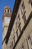 Bürgerlicher Kontrollturm. Macerata. Marche. Stockfotografie