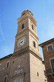 Bürgerlicher Kontrollturm. Macerata. Marche. Lizenzfreie Stockfotos