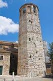 Bürgerlicher Turm. Amelia. Umbrien. Italien. Stockbild