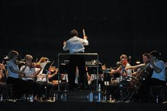 Bürgerliches philharmonisches Orchester lizenzfreies stockfoto