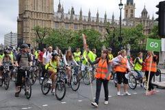 Bürgermeister Londons Radfahrenereignisses Skyride in London, England Lizenzfreie Stockbilder
