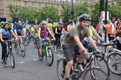Bürgermeister Londons Radfahrenereignisses Skyride in London, England Lizenzfreies Stockbild
