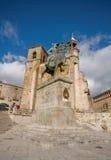 Bürgermeister Square in Trujillo. Caceres, Spanien. Lizenzfreies Stockbild