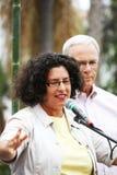 Bürgermeister von Santa Barbara Helene Schneider Lizenzfreies Stockbild