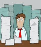 Büro-Überlastung Stockbild