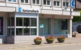 Büro Aargauische Kantonalbank in Bremgarten, die Schweiz Lizenzfreie Stockfotos