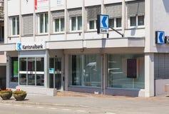 Büro Aargauische Kantonalbank in Bremgarten, die Schweiz Lizenzfreie Stockfotografie