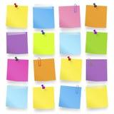 Büro-Arbeits-Papier merkt Anzeigen-Konzept lizenzfreie abbildung
