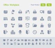 Büro-Arbeitsplatz | Granit-Ikonen Lizenzfreie Stockfotografie