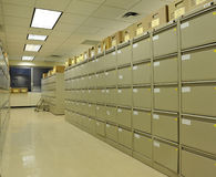 Büro-Datei-Kabinette Stockfotos