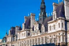Büro der Bürgermeister - Hotel de Ville, Paris Lizenzfreies Stockfoto
