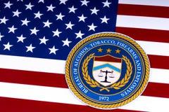 Büro des Alkohols, des Tabaks, der Feuerwaffen und der Sprengstoffe Lizenzfreie Stockfotos