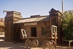 Büro des alten westlichen Polizeichefs Stockfotografie