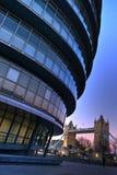 Büro des futuristischen London-Bürgermeisters Stockbild