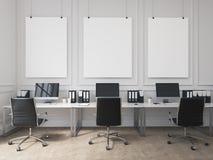 Büro des offenen Raumes Stockfotos
