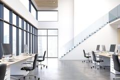 Büro des offenen Raumes mit der Treppe, konkret vektor abbildung