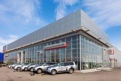 Büro des offiziellen Händlers Mitsubishi im Samara, Russland Lizenzfreies Stockfoto