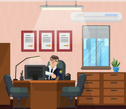 Büro des Polizeichefs Lizenzfreie Stockbilder
