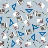 Büro-Geschäfts-nahtloses Muster Stockfotografie