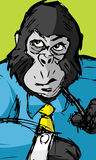 Büro-Gorilla Lizenzfreies Stockfoto