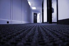 Büro-Halle - blauer Ton Stockfotografie