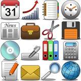 Büro-Ikonen-Satz Lizenzfreies Stockfoto