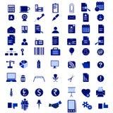 Büro-Ikonen-Set Stockbild