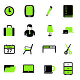 Büro-Ikonen set00 Lizenzfreie Stockfotografie
