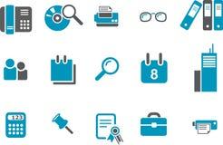 Büro-Ikonen-Set Lizenzfreie Stockbilder