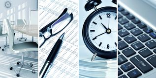 Büro-Konzept-Collage Stockfoto