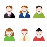 Büro-Leute-Ikonen Lizenzfreie Stockfotos