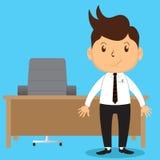 Büro-Mann im Büro lizenzfreie stockbilder