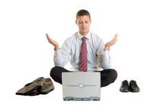 Büro-Meditation Stockfoto