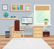 Büro in Minimalistic-Art und im Farbarbeitsfluß Stockfotos