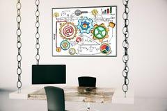Büro mit Erfolgskonzeptskizze Lizenzfreies Stockfoto