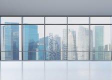 Büro mit Fenster Stockfotos