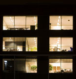 Büro nachts Stockfotos