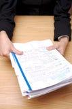 Büro-Papiere 3 Lizenzfreies Stockfoto