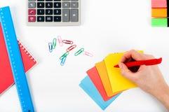 Büro, Schule, Geschäft, Bildung und Technologiekonzept - Clo Lizenzfreie Stockbilder
