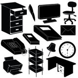 Büro silhouettiert Felder Lizenzfreie Stockfotografie