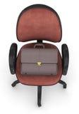 Büro-Stuhl und Aktenkoffer Lizenzfreie Stockfotografie