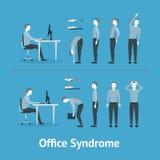 Büro-Syndrom Vektor stock abbildung