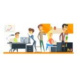 Büro Team On Coffee Break Lizenzfreie Stockbilder