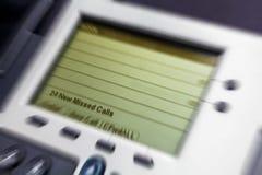 Büro-Telefon-Vertretung fehlende Anrufe lizenzfreies stockfoto