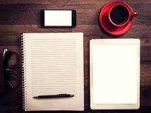Büro- und Blogkonzept Stockfotos