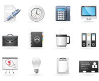 Büro- und Geschäftsikonen Stockfoto