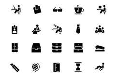 Büro-Vektor-Ikonen 4 lizenzfreie abbildung