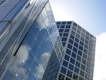 Büro vom Glas stockbild