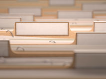 Büro-weißer Aufkleber Lizenzfreies Stockbild