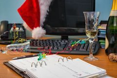 Büro-Weihnachtsfest Stockfotografie